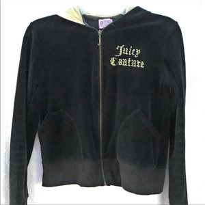 Juicy Couture Velvet Jacket With Hood